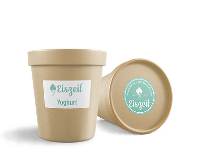Eiszeit Becher Yoghurt